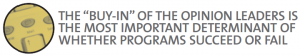 """The """"buy-in"""" of the opinion leaders is the most important determinant of whether programs succeed or fail"""