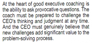 Long quote on good executive coaching