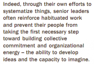 Long quote on senior leaders