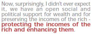 Quote on protecting the incomes of the rich