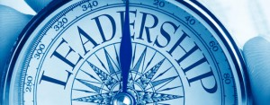 """Image of a compass with the word """"leadership"""""""