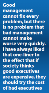 Quote on good management