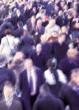Blurry image of business people