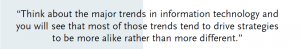 Quote on major trends