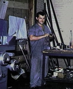 Image of a man working in a workshop