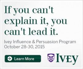 Ivey Influence & Persuasion Program