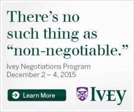 Ivey Negotiations Program December 2-4, 2015