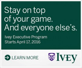 Ivey Executive Program April 17, 2016