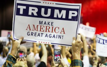 "Image of a Trump ""Make America Great Again"" sign"