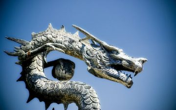 Image of a dragon statue