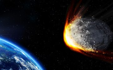 Generated image of a meteor en route to collide with earth